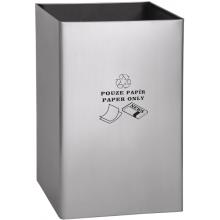 SANELA SLZN 49AB odpadkový koš 405x595mm, pro papír, na postavení, obdélníkový nerez