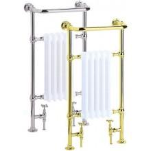 HERITAGE BABY CLIFTON koupelnový radiátor 391W s držákem na ručníky, chrom/bílá