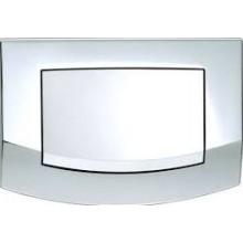 TECE AMBIA ovládací tlačítko 214x152mm, jednomnožstevní splachování, lesklý chrom