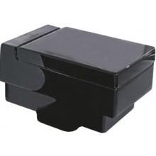 VILLEROY & BOCH MEMENTO závěsný klozet 375x560mm, s hlubokým splachováním, Glossy Black CeramicPlus