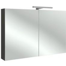 KOHLER REACH zrcadlová skříňka 100x143x650mm, včetně LED osvětlení, Gloss Grey Anthracite Melamine