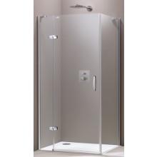 HÜPPE AURA ELEGANCE SW 800 boční stěna 800x1900mm, 4-úhelník, stříbrná lesklá/sklo čiré Anti-Plaque