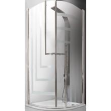 ROLTECHNIK TOWER LINE TR1 DESIGN PLUS/900 sprchový kout 900x2000mm čtvrtkruhový, s dvoukřídlými otevíracími dveřmi, bezrámový, brillant/potisk