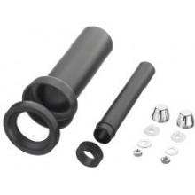OTTO HAAS závěsná připojovací WC souprava DN90/110, 300mm, s možností sváření, polyethylen, černá
