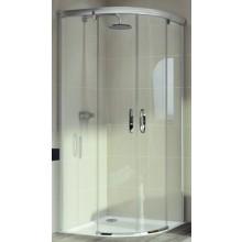HÜPPE AURA ELEGANCE posuvné dveře 900x1900mm čtvrtkruh, stříbrná lesklá/sklo Sand Plus Anti-Plague