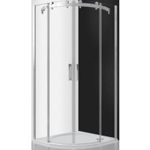 ROLTECHNIK AMBIENT LINE AMR2N/1000 sprchový kout 1000x2000mm čtvrtkruhový, s dvoudílnými posuvnými dveřmi, bezrámový, brillant/transparent