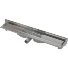 CONCEPT 100 FLEXIBLE LOW podlahový žlab 750mm s okrajem, s nastavitelným límcem ke stěně, nerez/ocel