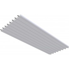 KOTRBATÝ KSP TO GO sálavý panel 1200x3000mm, závěsný, teplovodní, bílá RAL 9016