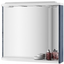 RAVAK ROSA M 780 R zrcadlo 780x160x680mm s poličkou, světly, el. zásuvkou, pravá, bříza/bílá X000000161
