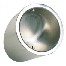 SANELA SLPN09 pisoár 355x316x521mm, kulatý, antivandal, nerez mat