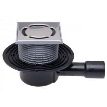 HL vpust DN40/50 podlahová, s vodorovným odtokem a pevnou izolační přírubou, polyetylen/nerez