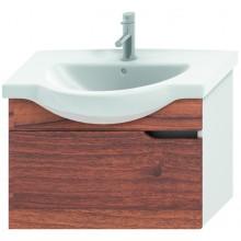 Nábytek skříňka pod umyvadlo Jika Mio new 71x50,5x34 cm bílá-ořech