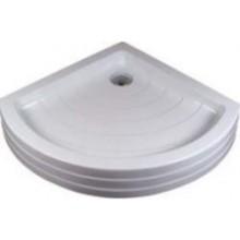 RAVAK RADIUS-90 PU KASKADA sprchová vanička 905x905mm, akrylátová, čtvrtkruhová, bílá
