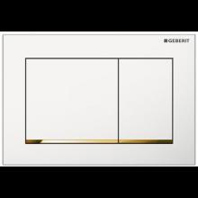 GEBERIT OMEGA 30 ovládací tlačítko 21,2x1x14,2cm, bílá/pozlacená/bílá