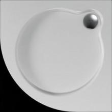 Vanička plastová Teiko čtvrtkruh - 100x100x3,5cm bílá