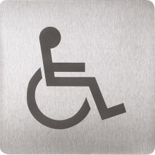 SANELA SLZN44AC piktogram WC invalidní, 120x120mm, nerez mat