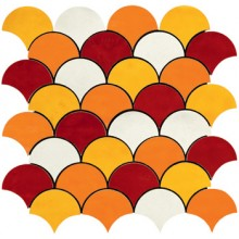 IMOLA SHADES mozaika 30x30cm orange, MK.SHADES 1 MIX