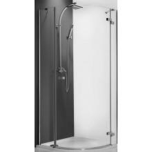 ROLTECHNIK ELEGANT LINE GRP1/1000 sprchový kout 1000x2000mm pravý, čtvrtkruhový, s jednokřídlými otevíracími dveřmi, bezrámový, brillant/transparent