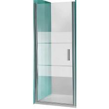 ROLTECHNIK TOWER LINE TCN1/1000 sprchové dveře 1000x2000mm jednokřídlé pro instalaci do niky, bezrámové, stříbro/transparent