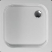Vanička plastová Teiko čtverec Kea s protiskluzem 90x90x8cm bílá