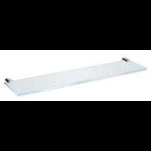 JIKA BASIC skleněná polička, včetně držáků 40x10x2cm, chrom