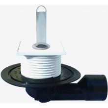 HL vpust DN50/75 podlahová, s variabilním odtokem, polypropylen/polyetylen
