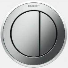 GEBERIT TYP 10 oddálené ovládání 9,4cm, pneumatické, podomítkové, černá/pochromovaná lesklá/černá