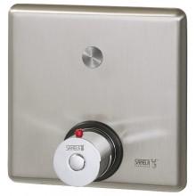 SANELA SLS02PTB piezo ovládání sprchy, 9V, s termostatickým ventilem pro teplou a studenou vodu, antivandal, nerez