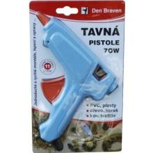 DEN BRAVEN tavná pistole 70W, velká, k lepení materiálů, modrá