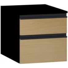 VITRA MEMORIA BLACK skříňka 400x530x410mm, dub/černá