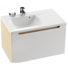RAVAK CLASSIC SD 800 R skříňka pod umyvadlo 800x470x490mm pravá, bílá/bílá X000000351