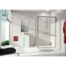 Zástěna sprchová dveře - sklo Concept 100 NEW, posuvné 1-dílné s pevným segmentem 1400x1900 mm stříbrná matná/čiré AP
