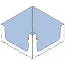 VILLEROY & BOCH PRO ARCHITECTURA WIESBADEN dlažba 30x30cm, vnitřní roh, light aquamarine