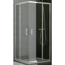 SANSWISS TOP LINE TED2 D sprchové dveře 900x1900mm, pravé, dvoukřídlé, rohový vstup, matný elox/čiré sklo