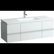 LAUFEN CASE skříňka pod umyvadlo 1295x475x460mm se 2 zásuvkami, bílá 4.0131.2.075.463.1
