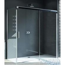 HÜPPE DESIGN PURE boční stěna 900x1900mm pro posuvné dveře 1-dílné s pevným segmentem stříbrná matná/sand plus anti-plaque 8P2703.087.316