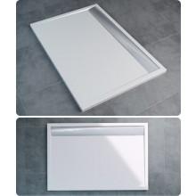 Vanička litý mramor Ronal obdélník ILA včetně sifonu a krytu 900x1000 mm bílá/bílá