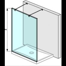 JIKA PURE pevná stěna 1300mm, transparentní 2.6742.1.002.668.1