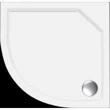 Vanička litý mramor - čtvrtkruh Concept 100 včetně nožiček 80x80 cm, R500 bílá
