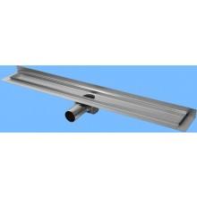 CONCEPT 50 podlahový žlab 985mm, se zadní vertikální přírubou, nerez ocel