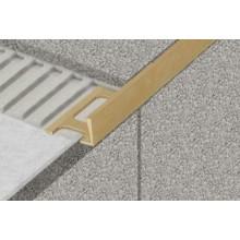 """PROFIL-EU profil 10mm, 2,5m ,,L"""" ukončovací, schodový, kovový, hliník, elox přírodní"""
