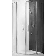 ROLTECHNIK TOWER LINE TR2/800 sprchový kout 800x2000mm čtvrtkruhový, s dvoukřídlími otevíracími dveřmi, bezrámový, stříbro/transparent