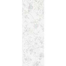 Obklad Villeroy & Boch Moonlight 30x90 cm bílá květy šedé