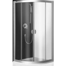 ROLTECHNIK EXCLUSIVE LINE ECR2/900 sprchový kout 900x2000mm čtvrtkruhový, s dvoudílnými posuvnými dveřmi, brillant/transparent