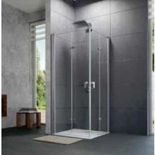 HÜPPE DESIGN PURE sprchová zástěna 900x2000mm, křídlové dveře, levé upevnění, stříbrná mat/sklo