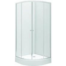 KOLO FIRST sprchový kout 90x190cm, čtvrtkruhový, posuvné dveře, čiré sklo/stříbrná lesklá ZKPG90222003