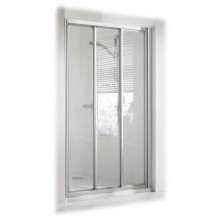 DOPRODEJ CONCEPT 100 sprchové dveře 800x800x1900mm posuvné, rohový vstup, 3 dílné s pevným segmentem, bílá/čiré sklo PT2012.055.322