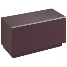KERAMAG ICON skříňka 89x47,7cm, postranní, stojící, burgundy lesklá