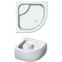 RIHO 343 sprchová vanička 90x90x52cm, čtvrtkruh, s nohami a panelem, akrylát, bílá