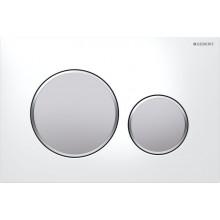 GEBERIT SIGMA 20 ovládací tlačítko 24,6x16,4cm, bílá/pochromovaná matná